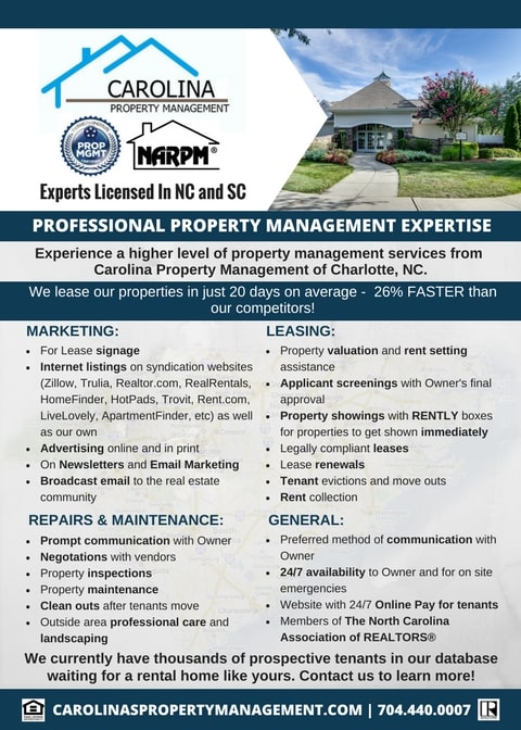 Get Professional Property Management Expertise in the Carolinas